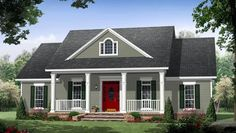 Colonial Country Traditional Elevation of Plan 59952