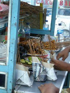 sate - satay, Indonesian street food - by selmadisini 2009