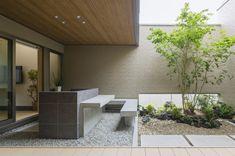 backyard designs – Gardening Ideas, Tips & Techniques Indoor Courtyard, Internal Courtyard, Courtyard House, Japanese Home Design, Japanese House, Home Room Design, Home Design Plans, Modern Small House Design, India House