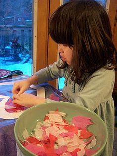 Kindergarten crafts/handwork: Valentine transparency