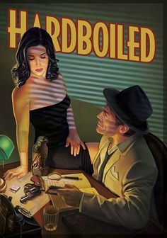 Hardboiled, cover art by Pinturero Info about this game (in Spanish) here. Bioshock, Cthulhu, Arte Pulp Fiction, Dark Fantasy, Fantasy Art, Hard Boiled Detective, Serpieri, Dark City, Arte Pop