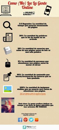 Cómo lee la gente en Internet. Infografía en español. #CommunityManager
