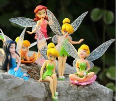 6pcs/set 3 inch Tinkerbell dolls flying Fairy Adorable tinker bell gift baby toy flower pretty doll Cake Topper(China (Mainland))