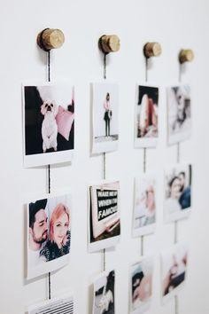 Photo wall design diy new ideas Cute Room Decor, Diy Wall Decor, Bedroom Decor, 1920s Bedroom, Quirky Bedroom, Bedroom Wall, Bedroom Ideas, Diy Tumblr, Polaroid Wall