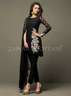 Stylish Party Wear Black Dresses for Indian & Pakistani Women Pakistani Party Wear Dresses, Pakistani Dress Design, Pakistani Outfits, Indian Dresses, Indian Outfits, Stylish Dress Designs, Designs For Dresses, Stylish Dresses, Casual Dresses