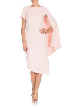 PINK Athena Cape Sleeve Dress Osman
