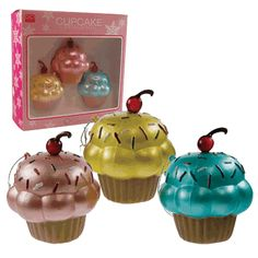 Cupcake Christmas Ornaments, Novelty Christmas Ornaments