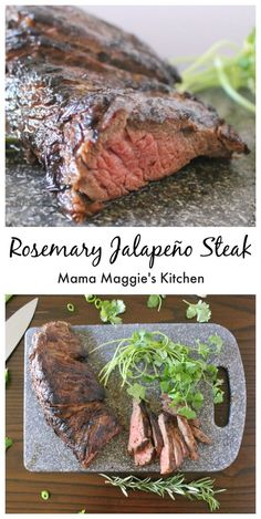 Rosemary Jalapeno Steak - Flavorful and incredibly delicious steak. Perfect for summer grilling. - Mama Maggie's Kitchen