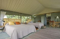 An authentic tented safari camp, complete with en-suite and flushable toilet for those who like their creature comforts
