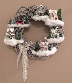 winter wreath - winter wonderland