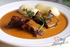 Czech Recipes, Family Kitchen, Kitchen Recipes, Steak, Food And Drink, Beef, Cooking Beef, Czech Food, Top Recipes