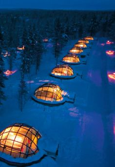 Glass igloo provides an one of a kind opportunity to admire the northern lights and millions of stars of the crystal clear Lapp sky in a comfortable room temperature.