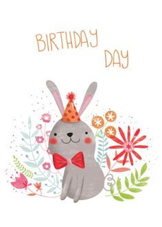 Gina Lorena Maldonado - Flowery Bunny - Birthday Day - GM