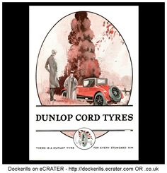 DUNLOP - Dunlop Cord Tyres Advert. From The Illustrated London News Magazine, October 11th,1927.