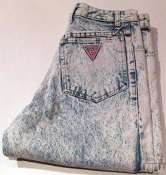 aww man, acid washed guess jeans. nineties-themed parties, watch out.