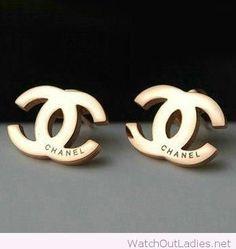 Chanel gold stud earrings design