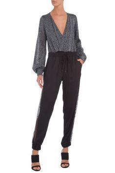 Calça Pantalona Crepe Com Cinto A. Brand Bege Oqvestir