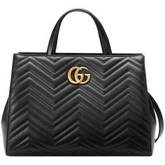 Gucci Gg Marmont Matelassé Top Handle Bag (€2.190) ❤ liked on Polyvore featuring bags, handbags, black, gucci purses, gucci handbags, gucci bags and gucci