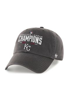 47 Brand Kansas City Royals AL Champions Charcoal Adjustable Hat Beyzbol  Formaları e71a33c6e9ba