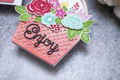 Bloomin' Cute Floral Baskets » Paper Suite Shaped Cards, Color Effect, Black Paper, New Leaf, Gift Packaging, Unique Colors, Floral Arrangements, Embellishments, Baskets