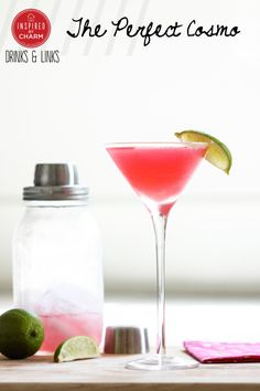 You only need four ingredient to create The Perfect Cosmo.