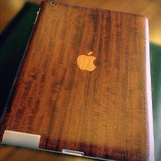 Love wood iPad skin