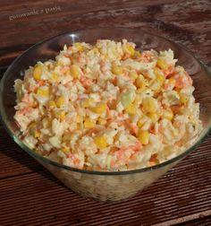 Gotowanie z pasją: surówka z białej kapusty z marchewką i kukurydzą