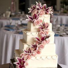 Big Wedding Cakes, Wedding Cake Fresh Flowers, Creative Wedding Cakes, Wedding Cake Photos, Amazing Wedding Cakes, Wedding Cake Designs, Wedding Cake Toppers, Amazing Cakes, Creative Cakes