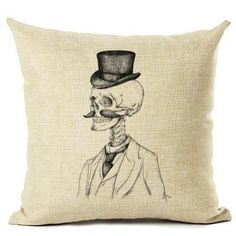 Fashion Nordic Style Variety Skull Head Cushion Cover Sea Whale Home Pillow Case Linen Cotton Pillows Covers Cojines