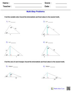 Printables Basic Trigonometry Worksheets free worksheets and on pinterest multi step trigonometry worksheets