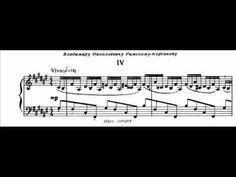 Igor Stravinsky - Piano Etude; Op. 7, No. 4 (Score-Video)