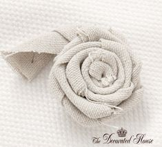 The Decorated House: ~ How To Make a Fabric Flower ~ Rosette Step 1
