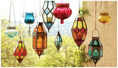 Love the glow of lanterns, cozy in the winter & cool in the summer! World Market, Wind Chimes, Lanterns, Glow, Ceiling Lights, Outdoor Decor, Lamps, Cozy, Painting
