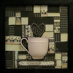 Cup of Joy Coffee Mosaic Art