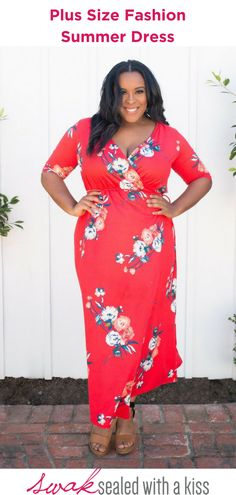 A flattering wrap silhouette cuts a striking figure every time you slip into our plus size red floral printed wrap maxi dress. Plus Size Summer. Plus Size Fashion Dresses, Plus Size Maxi Dresses, Plus Size Outfits, Summer Dresses, Plus Size Clothing Stores, Plus Size Womens Clothing, Red Wedding Dresses, Plus Size Summer, Plus Size Wedding