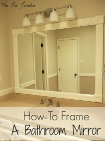 how to frame bathroom mirror no mitered corners