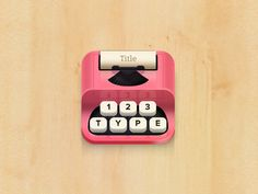 Type iphone icon by bas #pixels