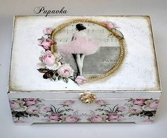 Discover thousands of images about decoupage box ideas ile ilgili görsel sonucu Decoupage Vintage, Decoupage Wood, Decoupage Tutorial, Hobbies And Crafts, Diy And Crafts, Paper Crafts, Altered Cigar Boxes, Pretty Box, Jewellery Boxes