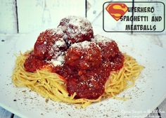 Superhero Spaghetti and Meatballs - #ad #Saucesome @RaguSauce