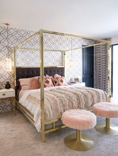 Modern canopy bed, modern beds, canopy bedroom, canopy beds, canopy bed g. Modern Canopy Bed, Canopy Bed Frame, Canopy Bedroom, Home Decor Bedroom, Canopy Beds, Bedroom Ideas, Modern Beds, Canopy Bed Girl, Bed With Canopy