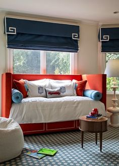 style stalking palmer weiss interior design blue orange bedroomsblue boys - Interior Design Kids Bedroom