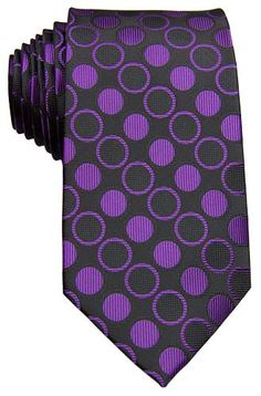 Circles Purple Tie