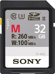Sony - SF-M Series SF-M32 32GB SDHC UHS-II Class 10 Memory Card