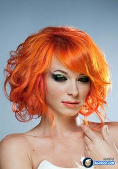 Red orange hair color The 30 Hottest Short Hair Color Trends for 2013 [Photo Gallery]