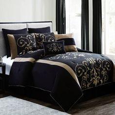 Cassandra Flocked 8-pc. Comforter Set