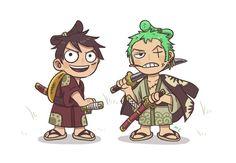 One piece Zoro Nami, Roronoa Zoro, Anime Chibi, Anime Manga, One Piece Fanart, One Piece Luffy, Nico Robin, Awesome Anime, Aesthetic Art