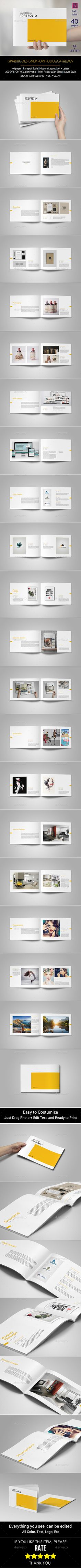 Graphic Design Portfolio Template on Behance Portfolio Design, Portfolio Book, Portfolio Layout, Template Portfolio, Graphisches Design, Cover Design, Layout Design, Design Brochure, Booklet Design