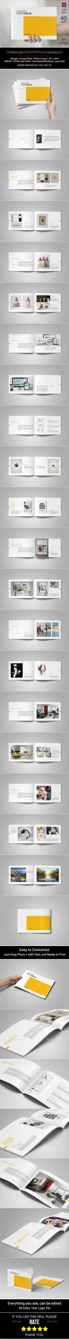 Portfolio Template - Portfolio Brochure InDesign INDD. Download here: http://graphicriver.net/item/portfolio-template/13031098?s_rank=1797&ref=yinkira