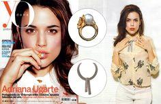 Adriana Ugarte, Spanish actress, wearing Carrera y Carrera jewelry on the cover and inside pages of Yo Dona.  www.carreraycarrera.com