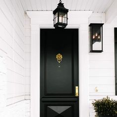 Troy Lighting Dover Outdoor Lantern Front Door Entrance, Front Door Decor, Entry Doors, Front Entry, Entryway Decor, Front Porch, Black Exterior Doors, Black Front Doors, Outdoor Wall Sconce